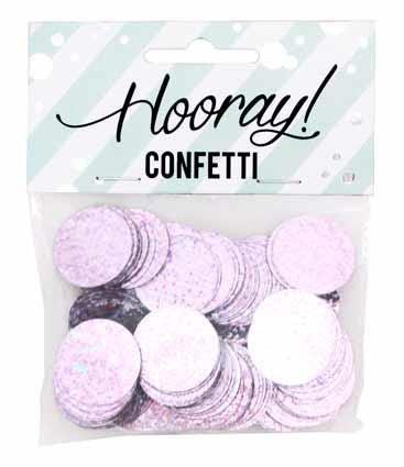 Circle Pink Table Confetti