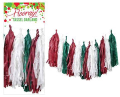 Red & Green Tassel Garland Kit
