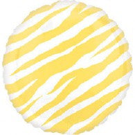 Yellow Zebra Foil Balloon