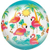 Pink Flamingo Orb Balloon