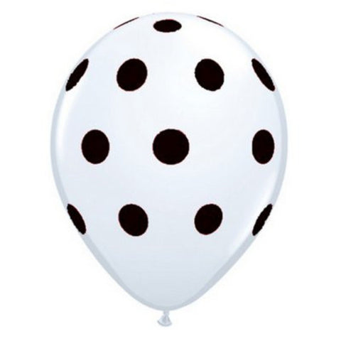 White with Black Dot Balloons