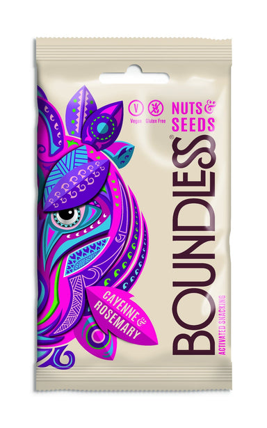 Boundless Activated Nuts & Seeds Cayenne & Rosemary - 30g bag - SoulBia