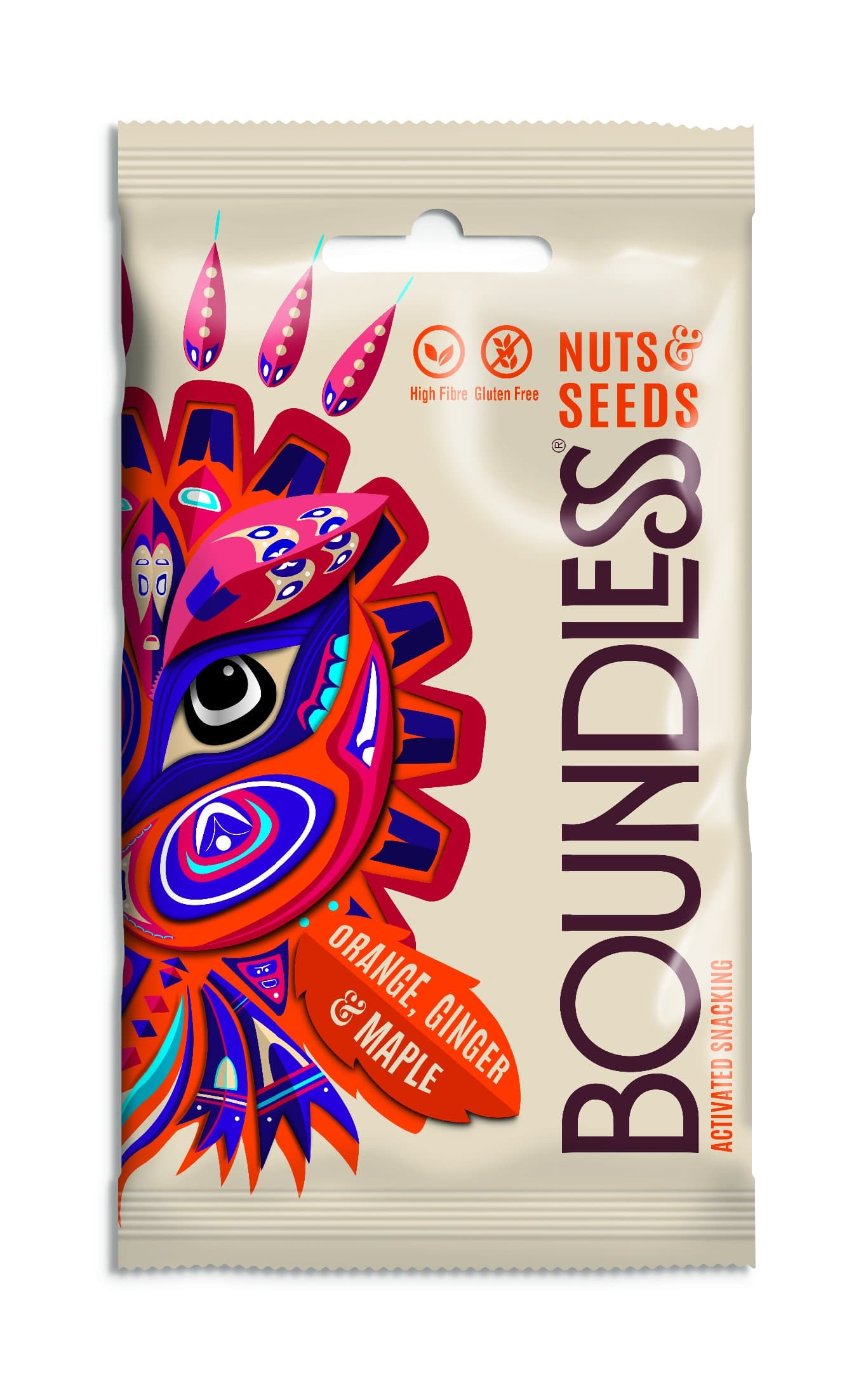 Boundless Activated Nuts & Seeds Orange, Ginger & Maple - 30g - SoulBia