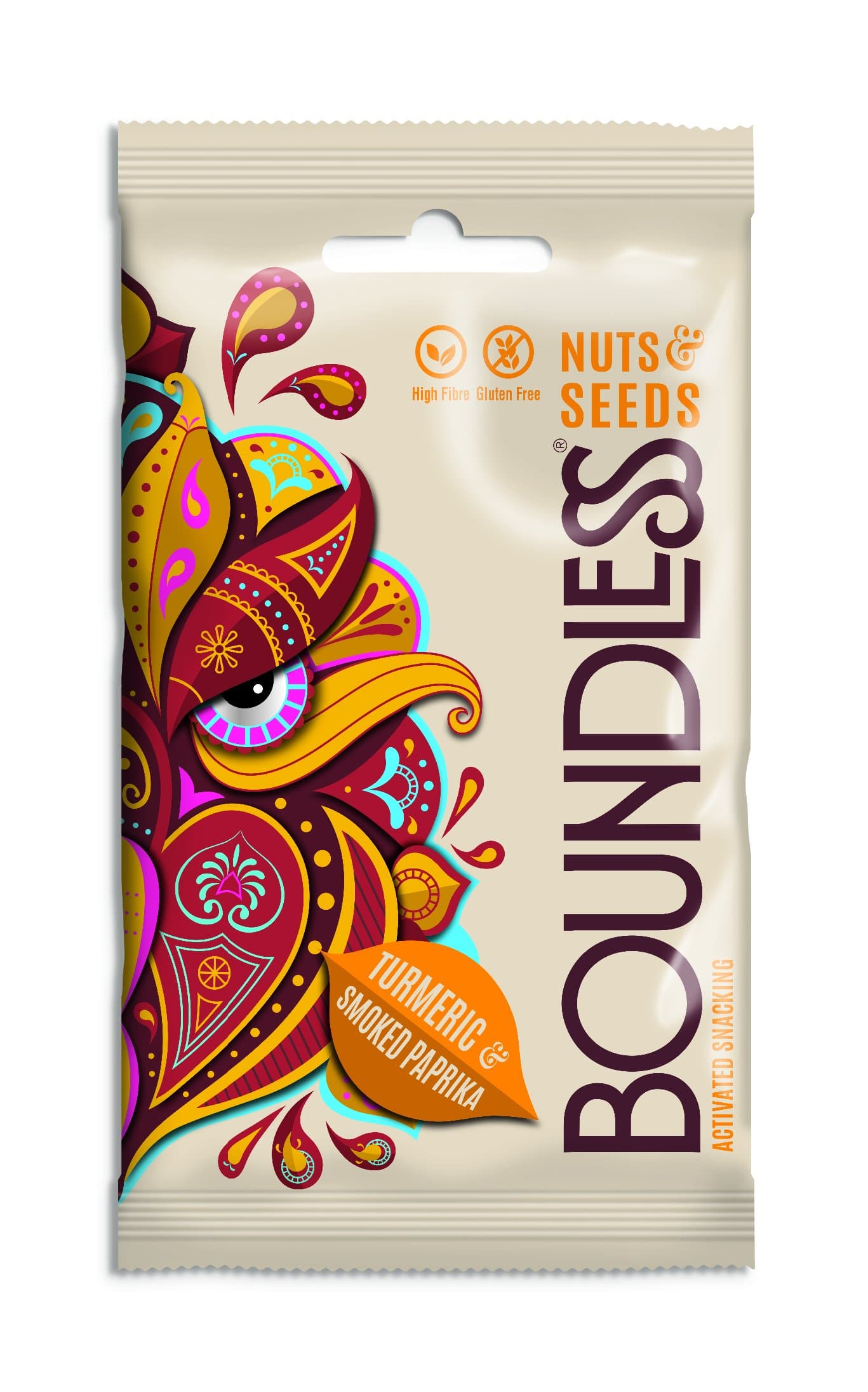 Boundless Activated Nuts & Seeds Turmeric & Smoked Paprika - 30g - SoulBia