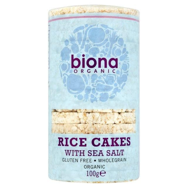Biona Organic Rice Cakes with Sea Salt - 100g - SoulBia