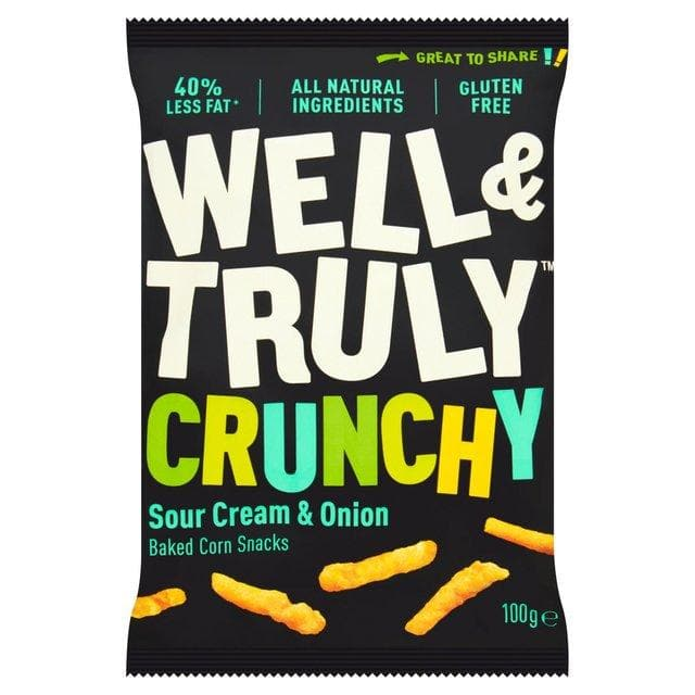 Well & Truly Crunch Sour Cream & Onion Crisps - 30g - SoulBia