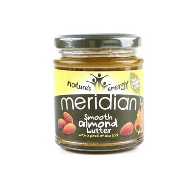 Meridian Smooth Almond Butter With a Pinch of Sea Salt - 170g - SoulBia