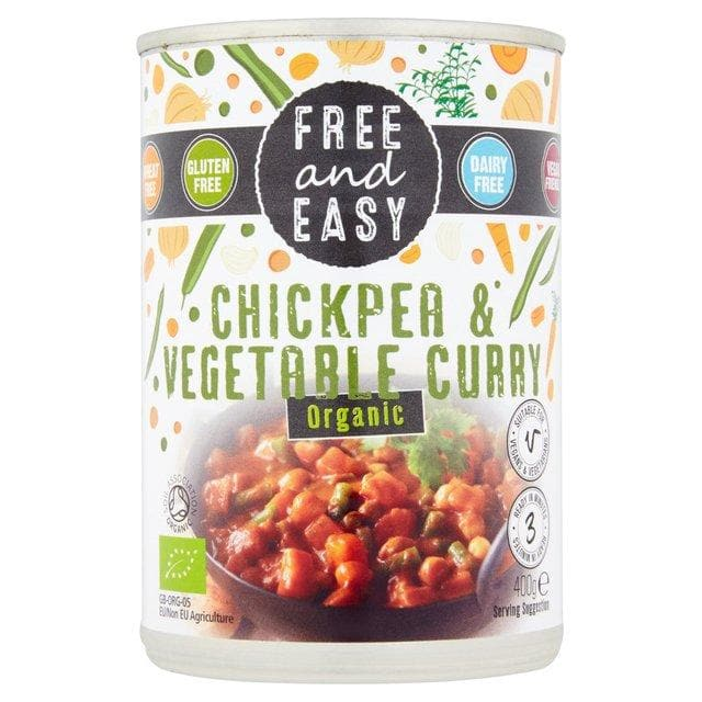 Free & Easy Chickpea & Vegetable Curry - 400g - SoulBia