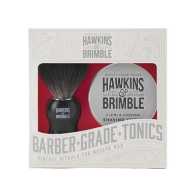 Hawkins & Brimble Shaving Gift Set - Brush & Shave Cream - SoulBia