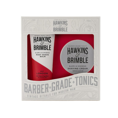 Hawkins & Brimble Grooming Gift Set - Shave Cream & Post Shave Balm - SoulBia