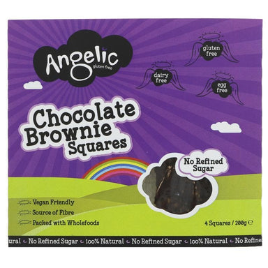 Angelic Gluten Free Chocolate Brownie Squares - 200g - SoulBia