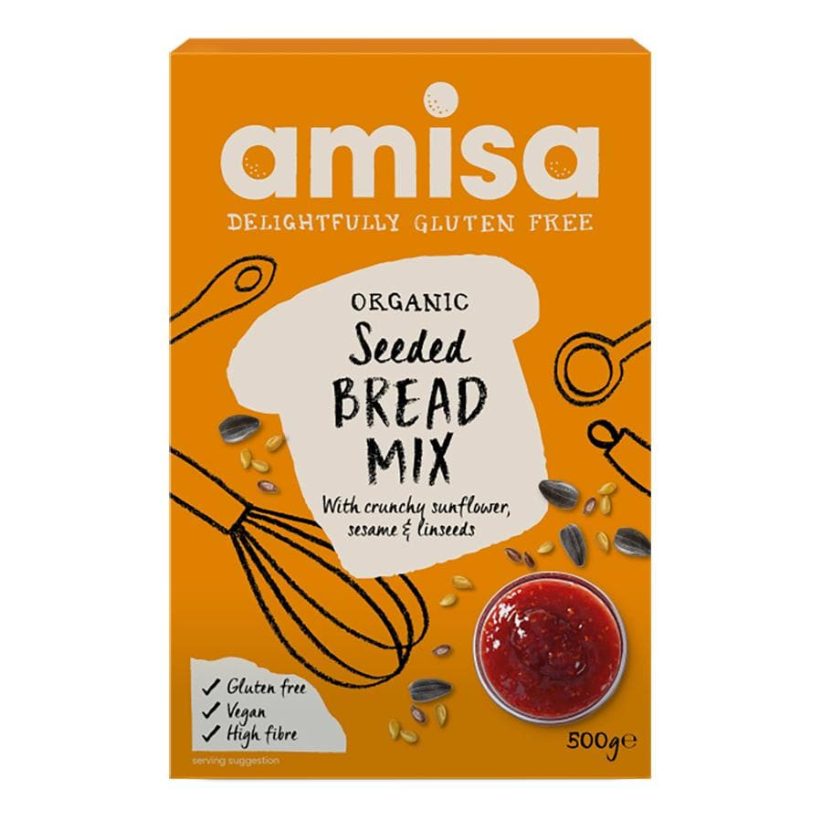 Amisa Seeded Bread Mix - Gluten Free 500g - SoulBia