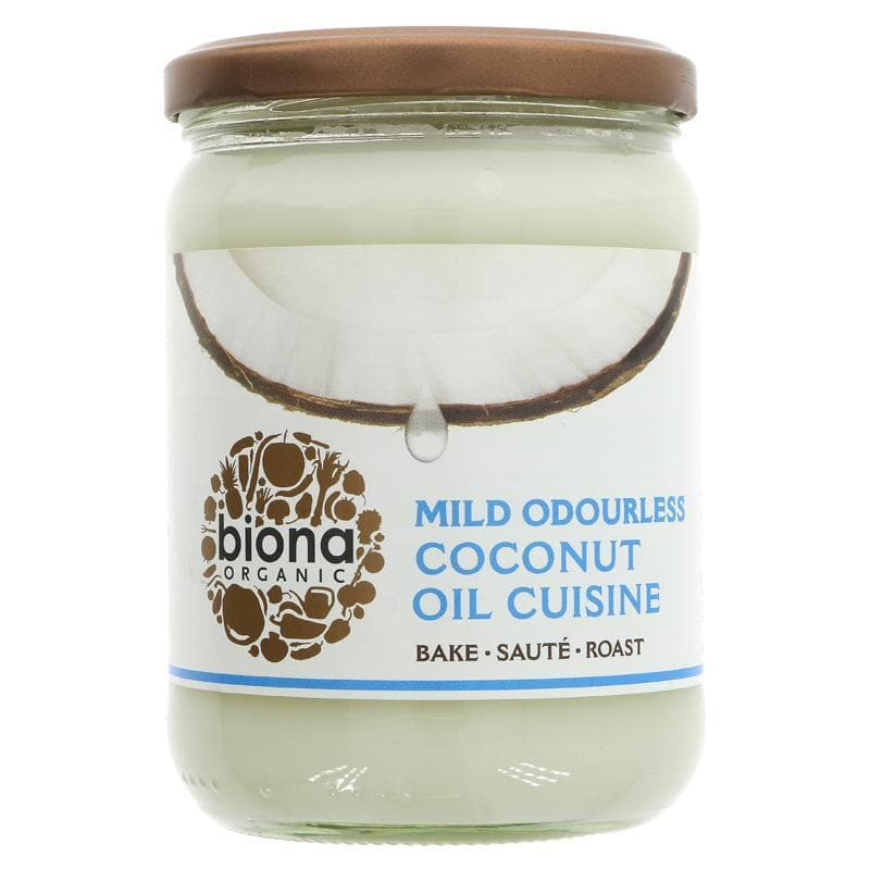Biona Mild Odourless Coconut Oil - 470ml - SoulBia