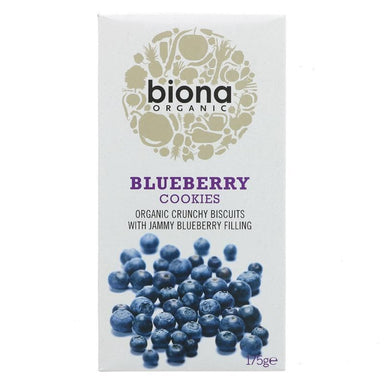 Biona Blueberry Filled Cookies - 175g - SoulBia