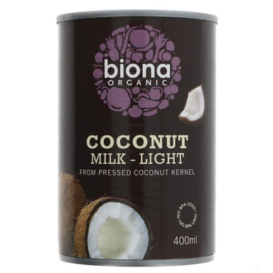 Biona Coconut Light Milk Organic - 400ml - SoulBia