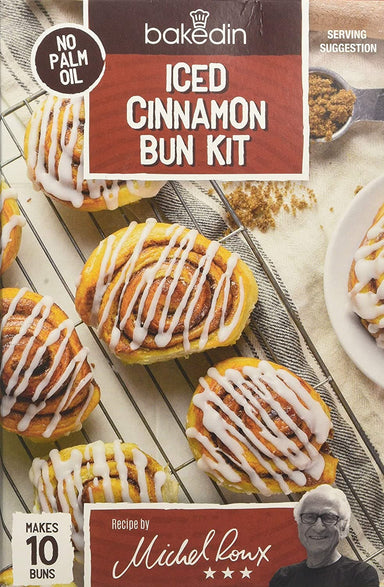 Bakedin Everyday Iced Cinnamon Bun Kit - 435g - SoulBia