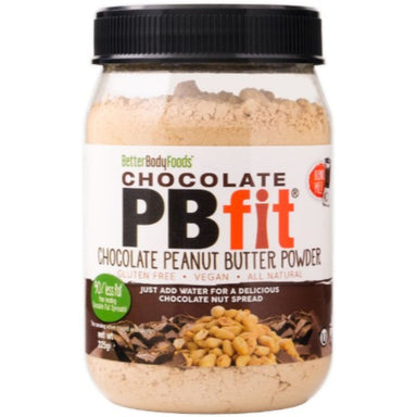 BetterBody PBfit Chocolate Peanut Butter Powder 225g