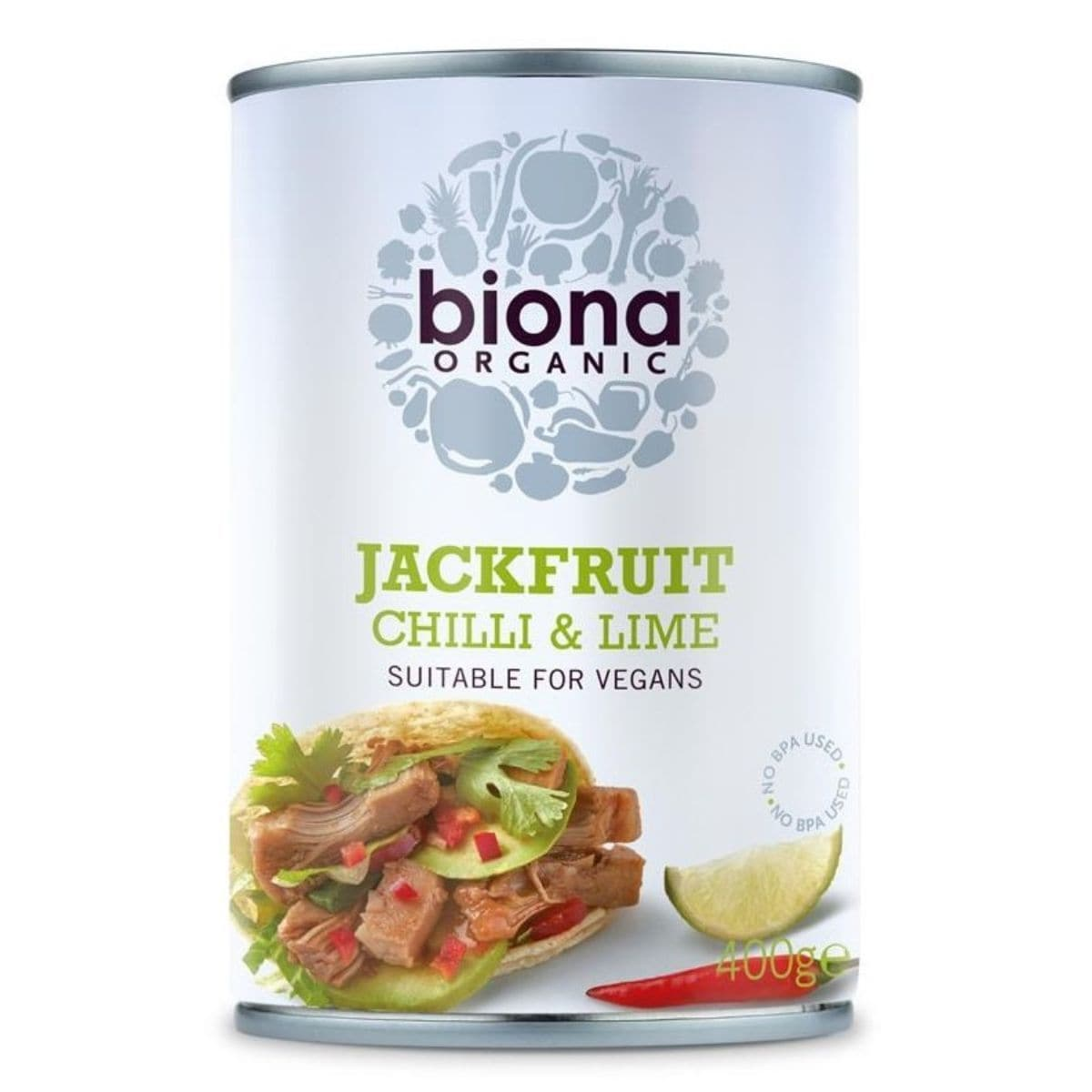 Biona Organic Chilli Lime Jackfruit In Can - 400g - SoulBia