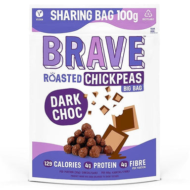 Brave Dark Chocolate Roasted Chickpeas 100g