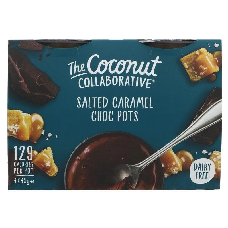 The Coconut Collaborative Salted Caramel Pots (4 Pack)- 45g - SoulBia
