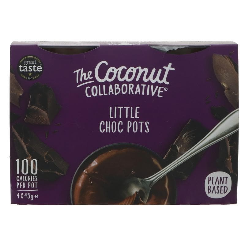 The Coconut Collaborative Little Choc Pots - ( Pack 4) - 45g - SoulBia