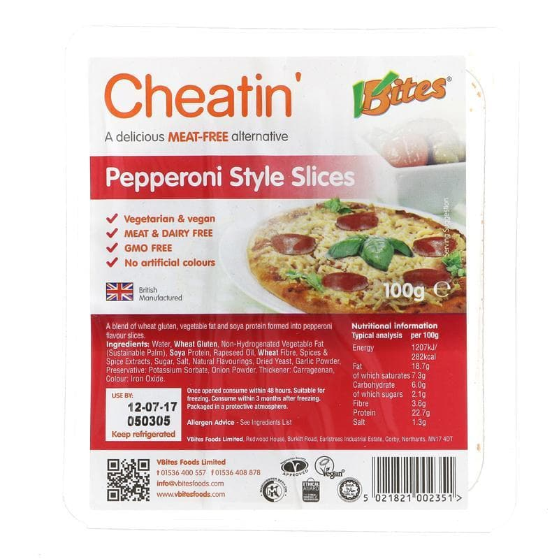 Vbites Cheatin' Pepperoni -  100g