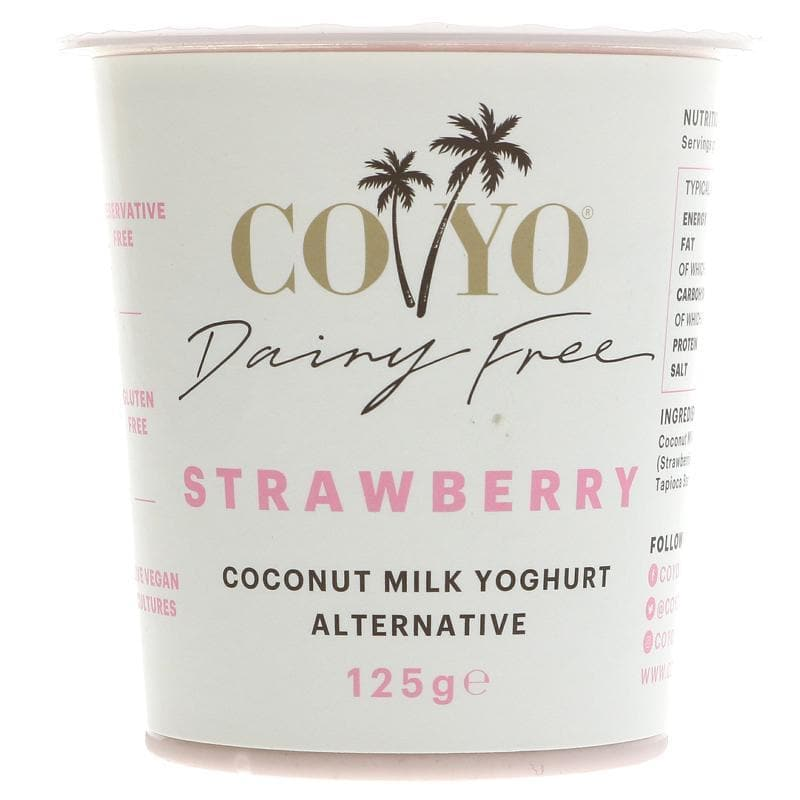 Coyo Strawberry Coconut Yoghurt - 125g - SoulBia