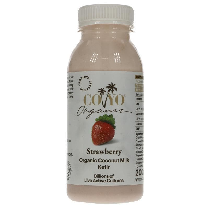 Coyo Strawberry Coconut Kefir Drink - 200ml - SoulBia