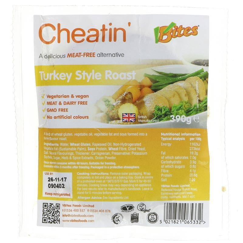 Vbites Cheatin' Turkey Roast - 390g - SoulBia