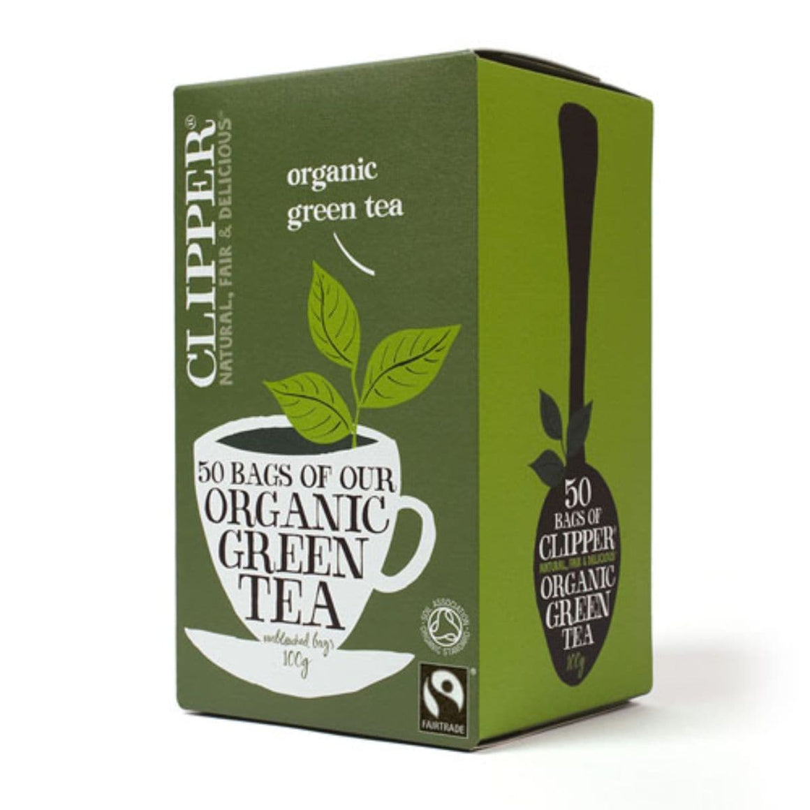 Clipper Organic Green Tea - 50 bags - SoulBia