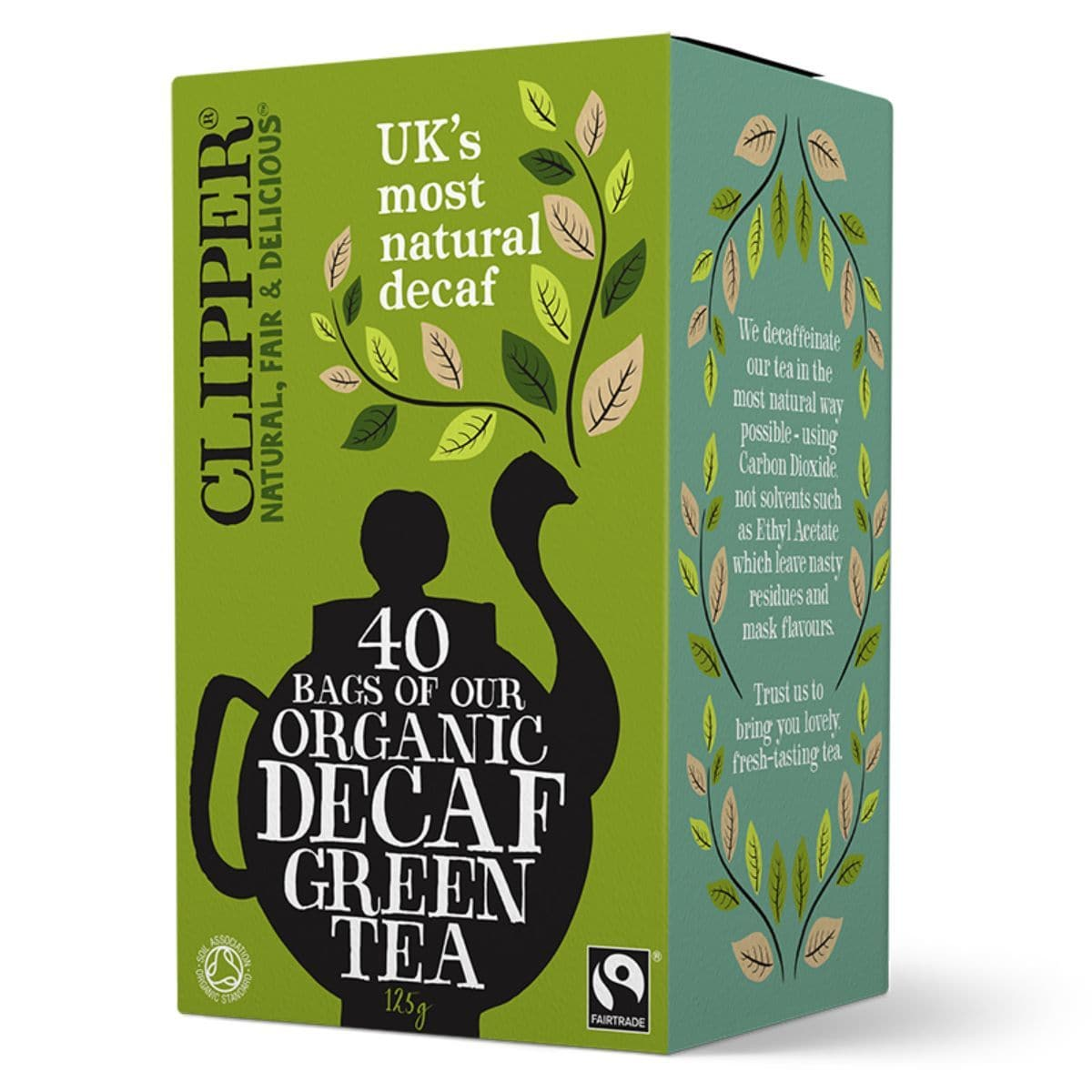 Clipper Organic Fair Trade Decaf Green Tea - 40 Bags - SoulBia