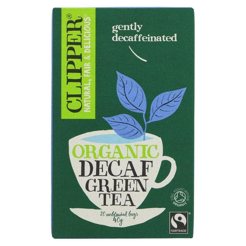 Clipper Organic Decaf Green Tea - 20 bags - SoulBia
