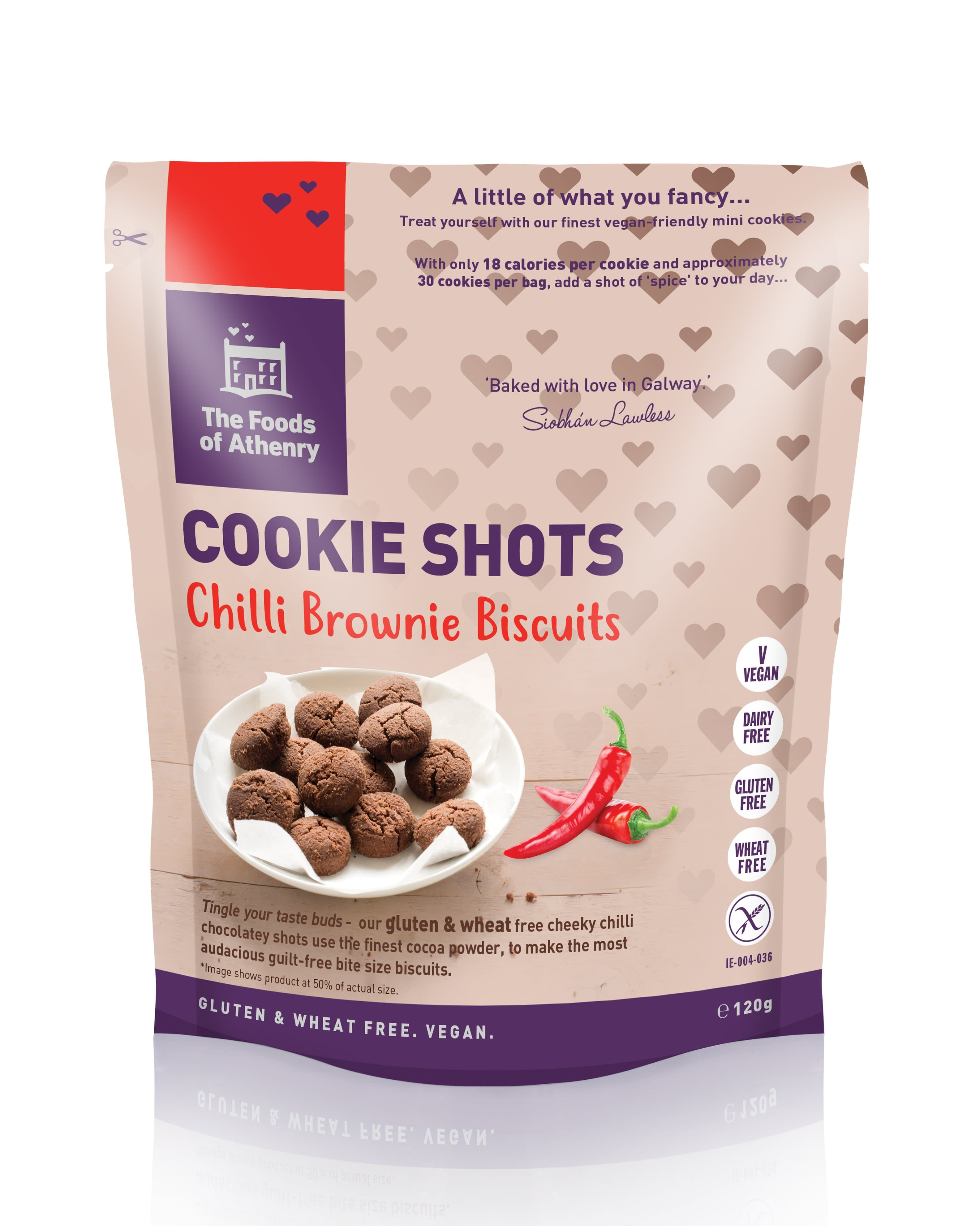 The Foods of Athenry Cookie Shots Chilli Brownie Biscuits 120g - SoulBia