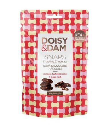Doisy & Dam Snaps Maple, Toasted Rice & Pink Salt Chocolate Snaps - 100g - SoulBia