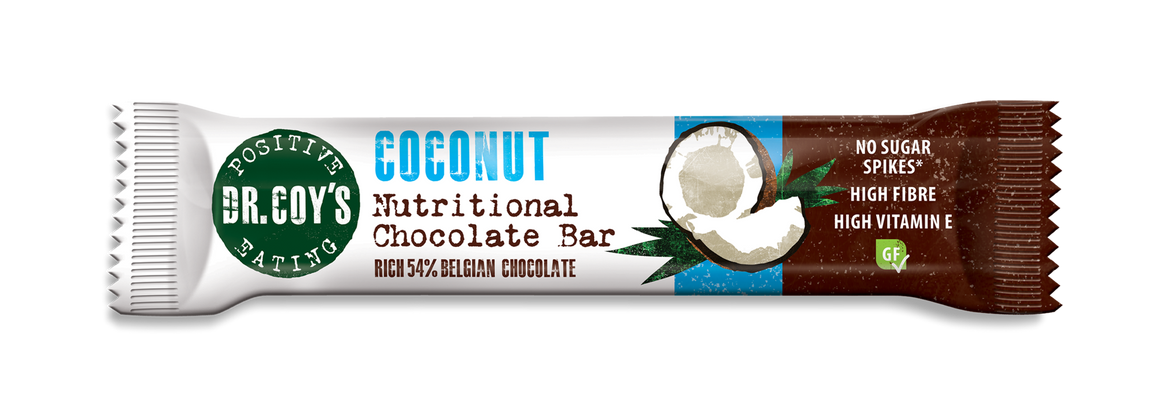 Dr Coy's Nutritional Chocolate Bar 35g Coconut - SoulBia