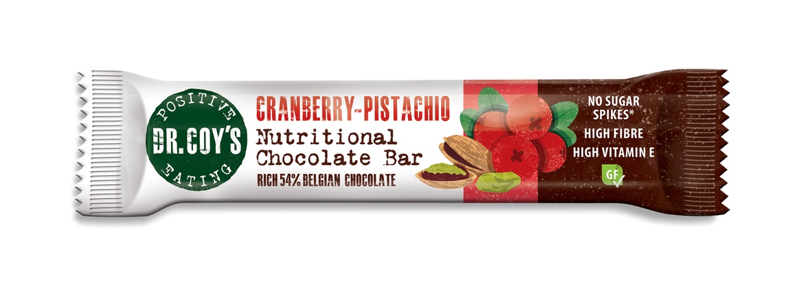 Dr Coy's Nutritional Chocolate Bar Cranberry Pistachio 35g - SoulBia