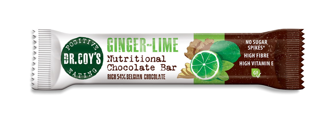 Dr Coy's Nutritional Chocolate Bar Ginger Lime 35g - SoulBia