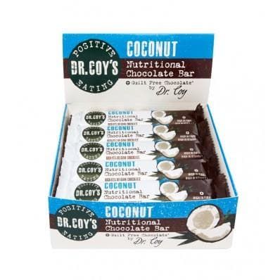 Dr Coy's Nutritional Chocolate Bars Coconut (Box of 20) - SoulBia
