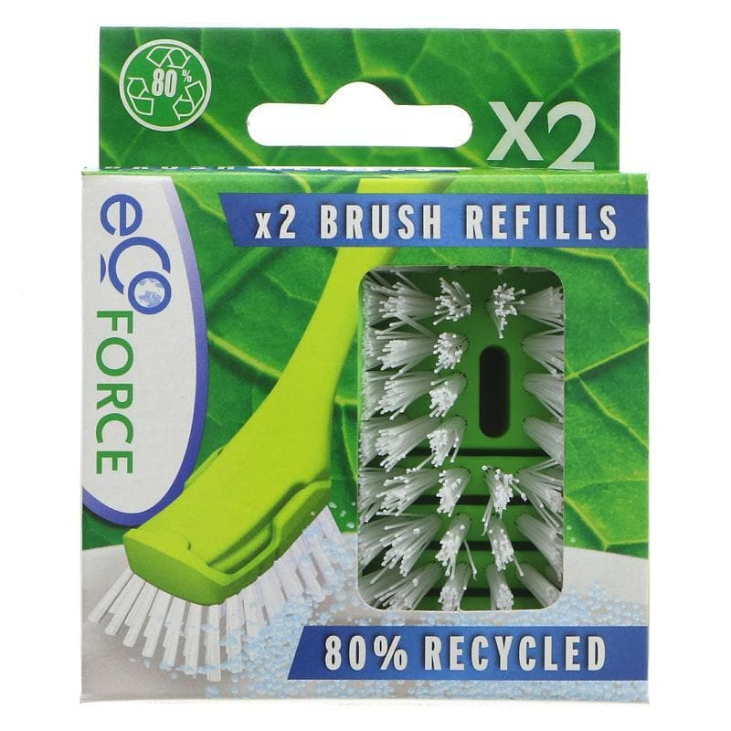 Ecoforce Recycled Dish Brush Refill - 6 x 2 pack - SoulBia