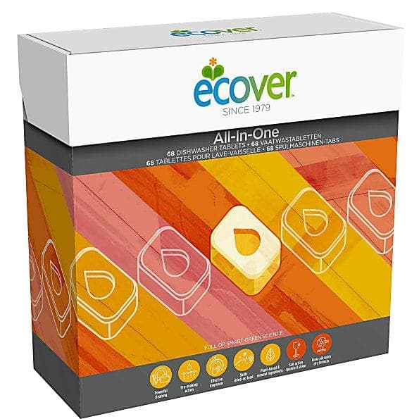 Ecover Dishwasher Tablets All In One - 68 Tablets - SoulBia