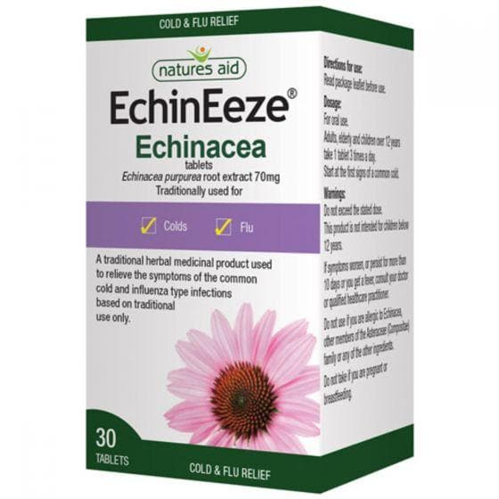Natures Aid Echineeze 70mg (Echinacea) Tablets 30s - SoulBia