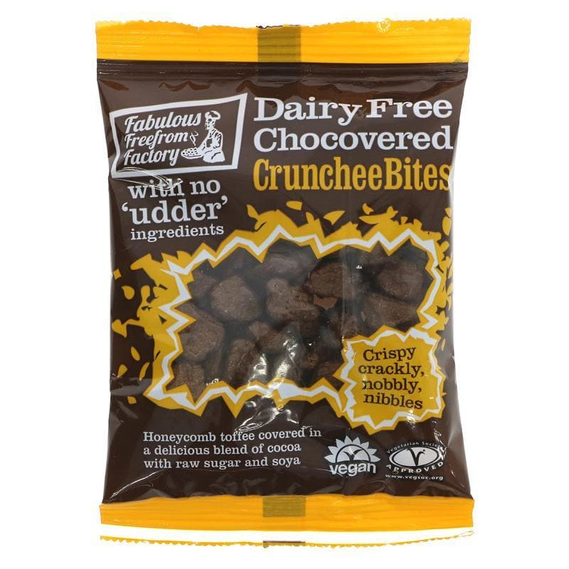 Fabulous Free From Factory Chocolate covered Crunchee Bites -  65g - SoulBia