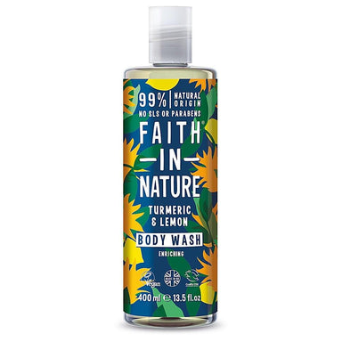 Faith In Nature Turmeric & Lemon Body Wash - 400ml - SoulBia