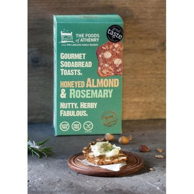 The Foods of Athenry- Gourmet Sodabread Toasts Honeyed Almond & Rosemary - 110g - SoulBia