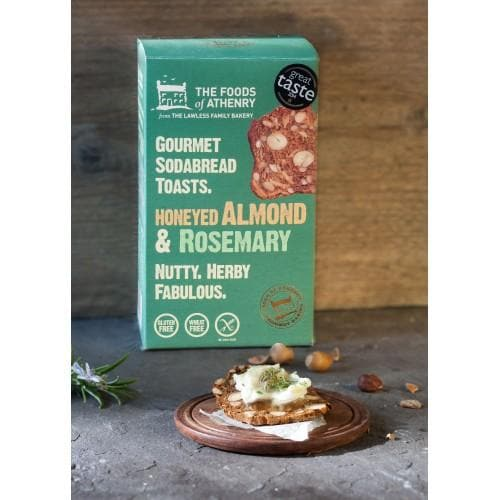 The Foods of Athenry- Gourmet Sodabread Toasts Honeyed Almond & Rosemary - 110g