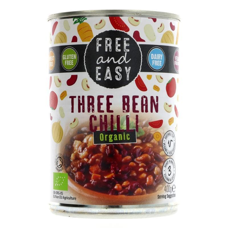 Free & Easy Three Bean Chilli - 400g - SoulBia