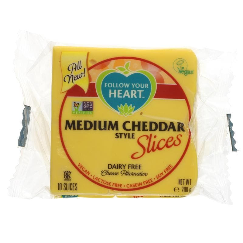 Follow Your Heart Medium Cheddar Slices - 200g - SoulBia