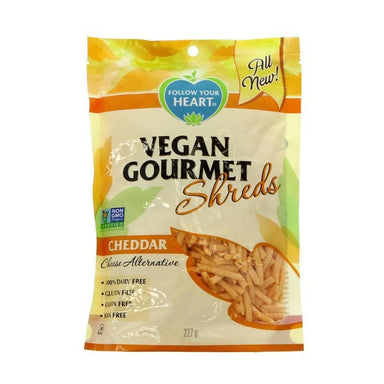 Follow Your Heart Vegan Gourmet Shreds - Cheddar - 227g - SoulBia