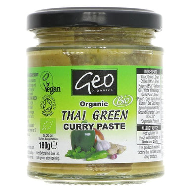 Geo Organics Thai Green Curry Paste organic - 180g - SoulBia