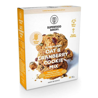 Superfood Bakery Glow Makers Oat & Cranberry Cookie Mix - 280g - SoulBia
